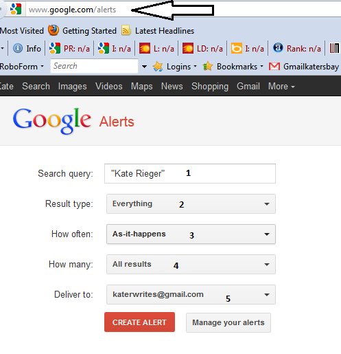 Spy Network with Google Alerts