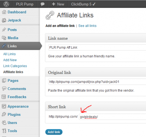 Picture of Cloaking Affiliate Link