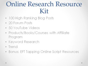 EFT Tapping Online Resource Kit