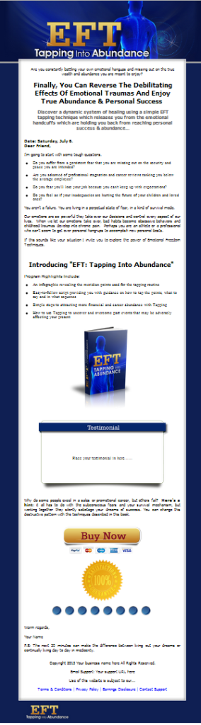 EFT Tapping PLR Mini Site