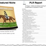 Equestrian Fitness PLR