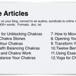Chakras PLR Content Bundle